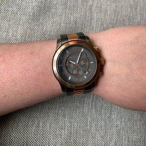 Michael Kors Runway Chronograph Watch Gunmetal